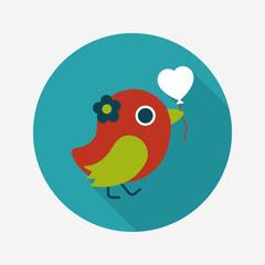 wedding bird flat icon with long shadow,eps10