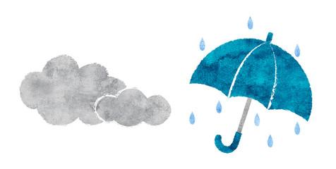 天気 曇りと雨