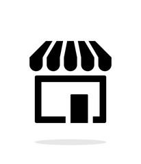 Store, supermarket icon on white background.