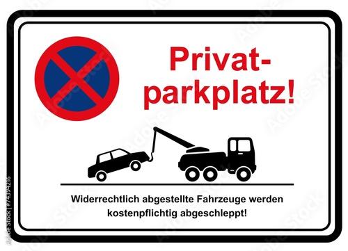 privatparkplatz stockfotos und lizenzfreie vektoren auf bild 74394216. Black Bedroom Furniture Sets. Home Design Ideas