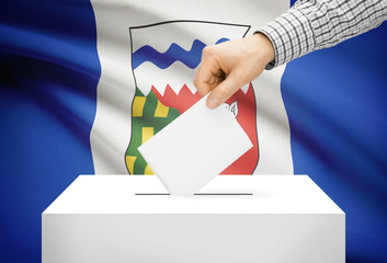 Ballot box with national flag - Northwest Territories