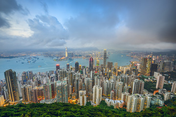 Hong Kong, China City Skyline