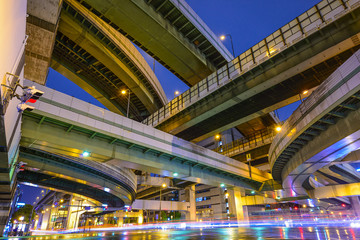 Elevated Highways and Roads in Osaka, japan