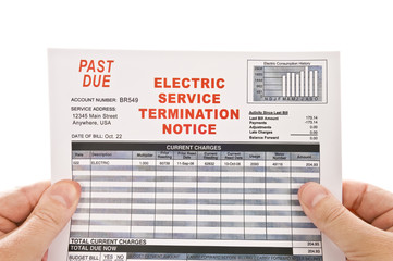 Electricity Service Past Due Bill