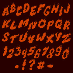 fire yellow font