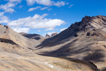 Himalayan landscape in Himalayas along Manali-Leh highway. India