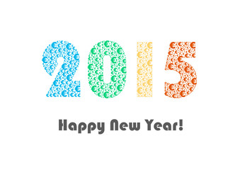 Happy New Year 2015, euro signs