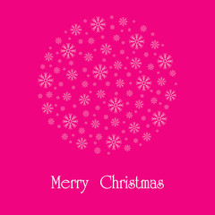 Beautiful Christmas card. A vector image.
