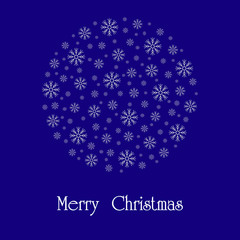 Beautiful Christmas card. Vector image.