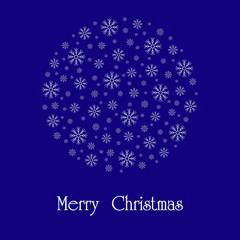 Beautiful Christmas card. Vector image.