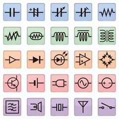 schematic symbol icon, AI10 vector
