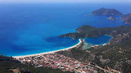 Oludeniz bay and blue lagun in Turkey.