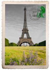 vecchia cartolina postale della Tour