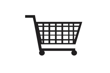 Vector shopping cart icon.