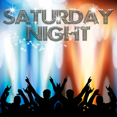 Saturday Night poster light eruptions