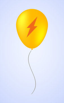 Balloon icon with a lightning