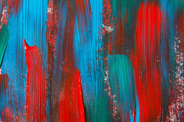 paint background with blue and red strokes