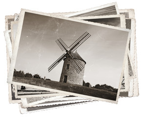 Vintage photos Old windmill