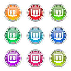 hd display colorful vector icons set