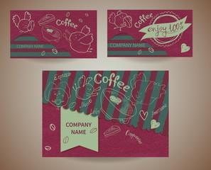 Set business cards