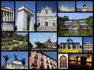 Madrid collage