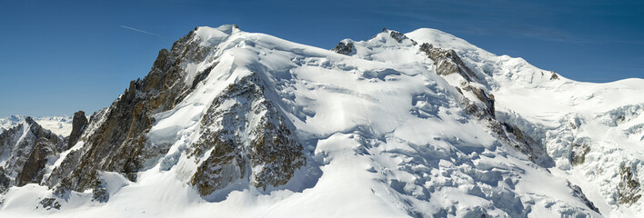 panoramic view to Mont-Blanc