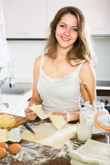 woman baking something of dough