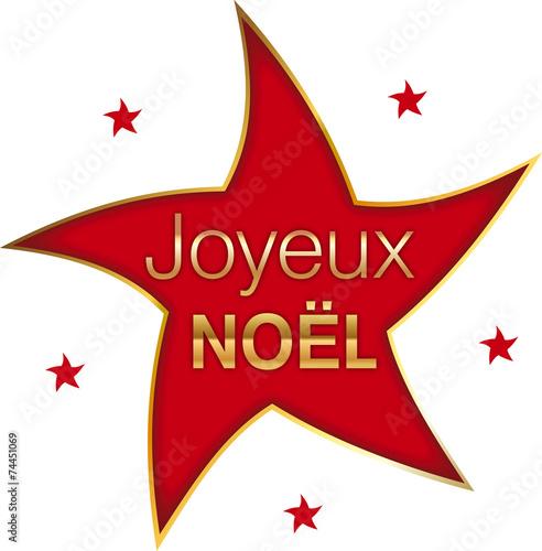 Joyeux no l toile rouge fichier vectoriel libre de - Image d etoile de noel ...