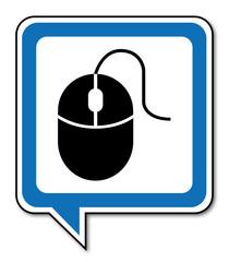Logo souris ordinateur.
