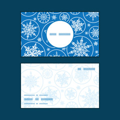 Vector falling snowflakes vertical round frame pattern business