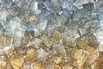 Obraz Kubistische Textur - fototapety do salonu