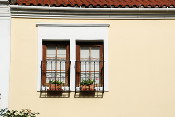 Vintage home window, Xanthi, Greece