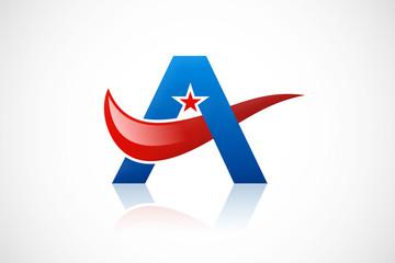 A star pride loop symbol abstract logo vector