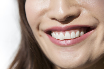 Young woman smile mouth