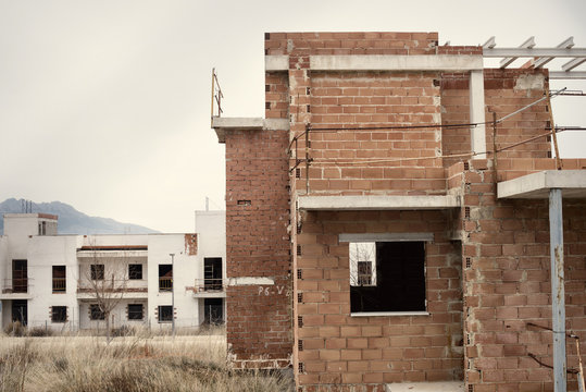 Abandoned housing project