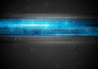 Blue glowing light Christmas background