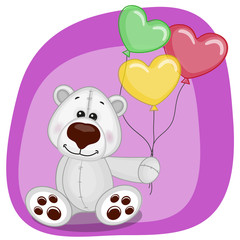 Polar Bear with balloons