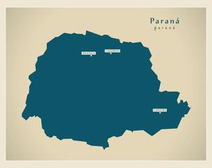 Modern Map - Parana BR