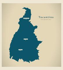 Modern Map - Tocantins BR