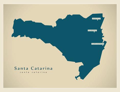 Modern Map - Santa Catarina BR