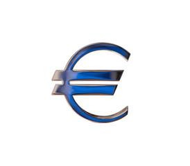 Euro Symbol isoliert auf weiß