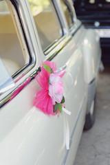 Pink Flower on Car Handle