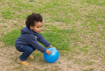 Dario play with te ball