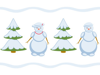 Snowman repeating pattern