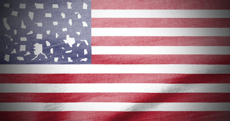 US Staaten anstelle der Sterne in der US Flagge