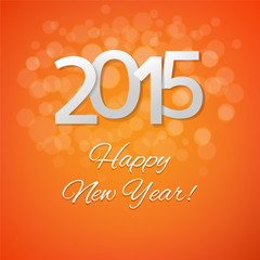 Orange New Year Card