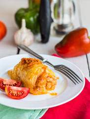 stuffed peppers with minced meat and rice
