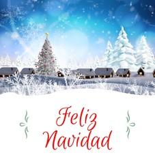 Photo sur Plexiglas Bleu clair Christmas greeting card