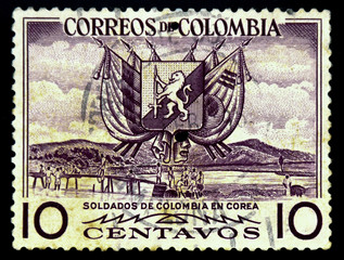 postage stamp columbia