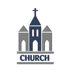 Church logo vector design